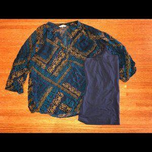 Sonoma Gold and Blue shirt set, XL